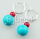 alaqueca blue turquoise earrings