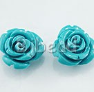 8*10mm turquoise rose studs