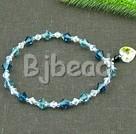 7 inches austrian crystal elastic bracelet under $ 40