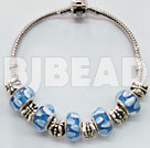 "7"" charm colored glaze bracelet"