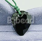 23.5 inches black austrian crystal strawberry pendant