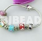 flower pattern beads charm bracelet