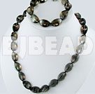 smoky quartz set