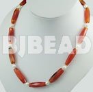 pearl faceted agate necklace