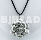 simple and hot 18 inches tibet silver pendant