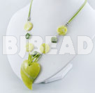 18 inches fashion lemon stone heart necklace