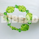green crystal colored glaze elastic bracelet under $ 40