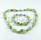 coin pearl and green rutilated quartz sets