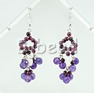 natural garnet and amethyst earrings