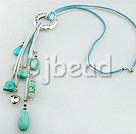 24 inches turquoise necklace with lobster clasp