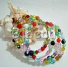 27.5 inches multi strand colorful manmade crystal bracelet