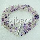 multi strand rainbow fluorite bracelet