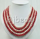 6-7mm pearl and coral sets