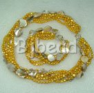 yellow series yellow pearl shell sets