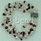 pearl and garnet bracelet