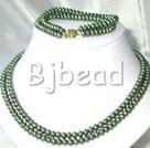 6-7mm double srtand pearl necklace bracelet sets