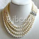 7-8mm white pearl necklace