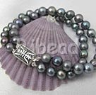 7-8mm 2-strands pearl bracelet