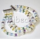 fashion pearl crystal bracelet