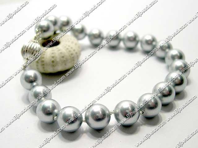 10mm seashell beaded bracelet