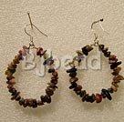 Large-diameter circle tourmaline earrings under $ 40