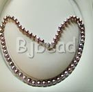 7-8mm good quality natural fresh water pearl necklace